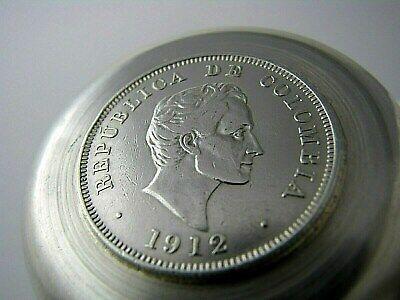 Colombian Coin Silver Ashtray 1912 50 Centavos 1942 10 Centavos 900 Silver Coins 6