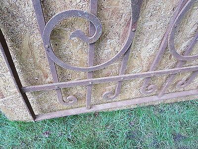 Antique Victorian Iron Gate Window Garden Fence Architectural Salvage Door FFF 9