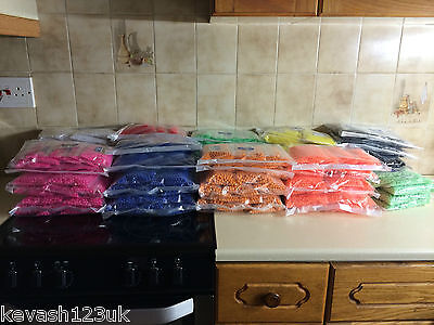 100 x 8mm or 6mm Beads.12 Colours inc Luminous & Oval.Free Gift with every pack. 6