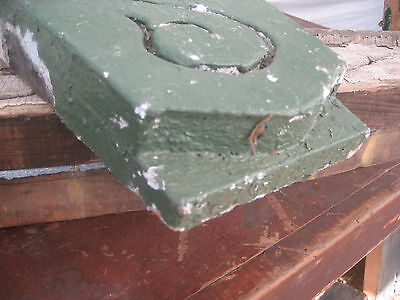 "circa 1870 victorian GOTHIC keystone fretwork element GREEN paint 12.5"" x 7 x 2"""