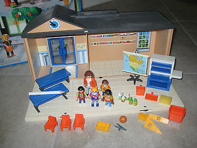 Playmobil 5941 5923 Take Along School House Teacher Incomplete