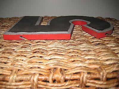 """Vintage/Antique Cast Metal Architectural Number """"5"""" Wagner Sign Service Co. 4"""