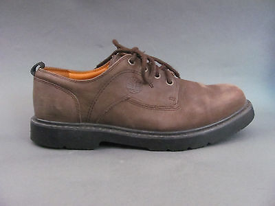 Timberland Smart Shoes Mens Size 13 Brown Nubuck Leather Waterproof Lace ups