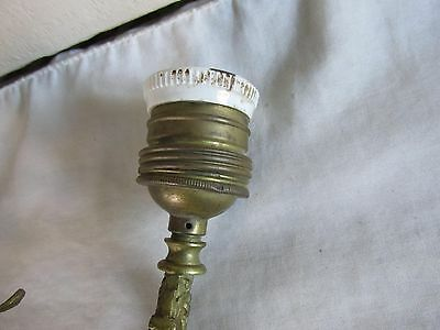 Regal Antique Fancy Brass Wall Sconce with French Styling for Restoration 7