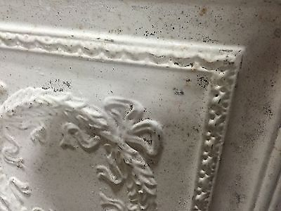 """GORGEOUS antique VICTORIAN tin ceiling pressed BOW & wreath pattern 2- 48""""x24"""""""