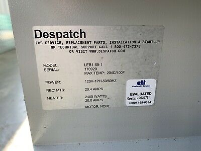 Despatch LEB1-69-1 LBB/LEB Forced Convection Bench-Top Oven 4