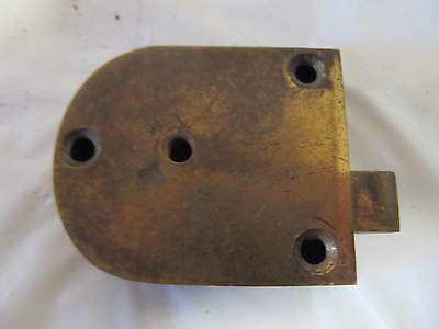 Vintage Brass YALE  Lock and Unique Knobless Finger Latch LQQK!! 5