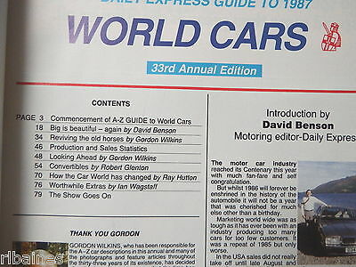 R&L Daily Express Guide to 1987 Cars Mercedes/Honda/Peugeot/Rover/Jaguar etc