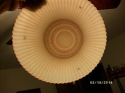 Antique or vintage glass ceiling light fixture shade 3 hole type 4