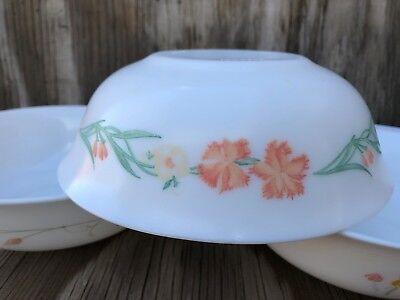 Arcopal Dishes Milk Glass Soup, Cereal Or Salad Bowls Set Of 3 Different Desig 4