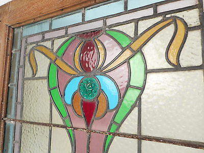 Vintage Stained Glass Window Panel (3143)NJ 8