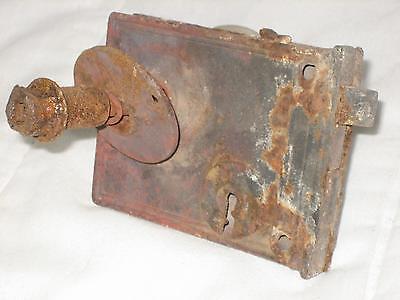 "4.5"" Antique Cast Iron Door Lock With Porcelain Knob 5"