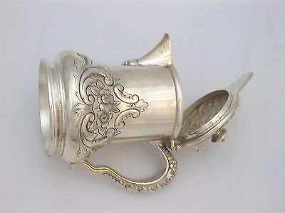 Exquisite Victorian Silverplate Honey Pitcher Jug Repousse Scroll Design Meriden 4