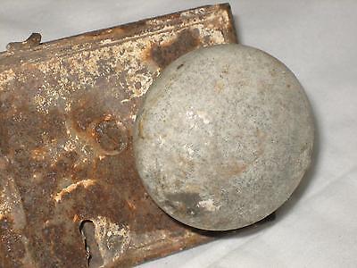 "4.5"" Antique Cast Iron Door Lock With Porcelain Knob 3"