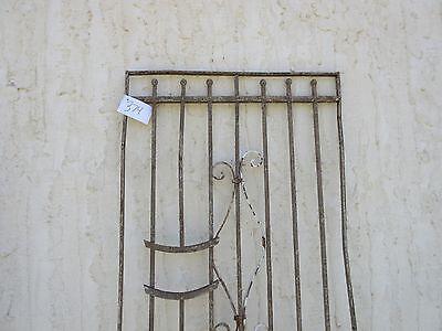 Antique Victorian Iron Gate Window Garden Fence Architectural Salvage Door #374 2