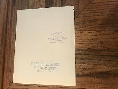 Lew Fine Comedian Master Of Ceremonies Autographed Photograph To Gus & Family 3