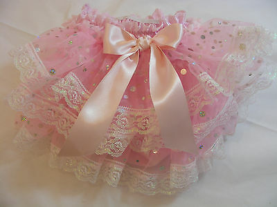 DREAM BABY ROMANY PINK TRIM FRILLY KNICKERS ALL SIZES AVAILABLE or reborn dolls