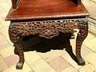 -Chinese Anique Hand Carved Huan Ghuali Armchair Dragon Design*- 8