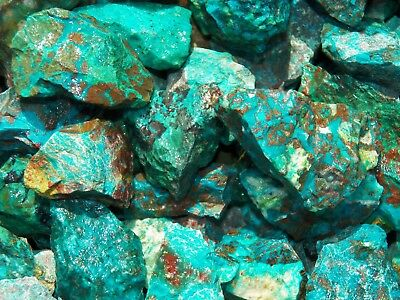 1000 Carat Lots of  Chrysocolla & Turquoise Rough - Plus a FREE Faceted Gemstone 5