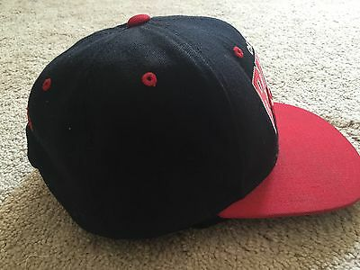 ... NBA Chicago Bulls Hat Baseball Cap SnapBack Black Red Mitchell   Ness 3 c6012dbfb1f
