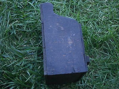 Vintage Antique Wooden Box For Cutlery With Dark Patina 5