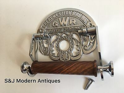 Victorian Toilet Roll Holder Novelty Chrome Unusual GWR Vintage Design Silver 3