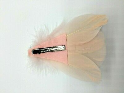Asst Colour Silver Gem Feather Fascinator Diamante Hair Clip Vintage Style 4