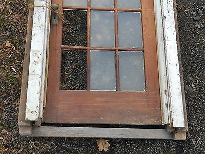 Antique Entry Way French Door With Surround Gingerbread Pediment Old 3903-14 2