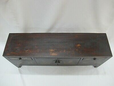 A Chinese Antique Brown Color Wood Kang Low / TV display Table / Stand 39'' Wide 2