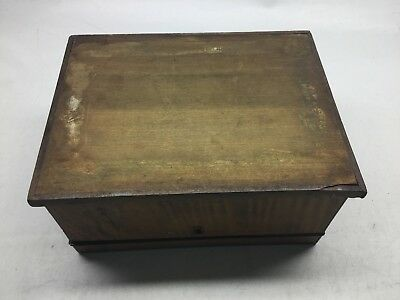 Antique Tiger Maple, Mahogany, And Satinwood Inlay Jewelry Box 10