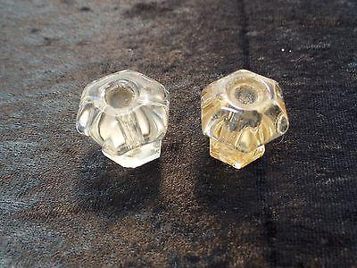 2 Piece True Vintage Glass Drawer Pulls