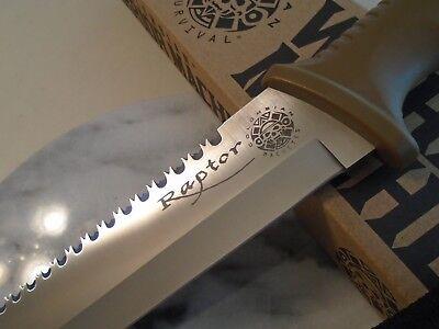 "Colombian Warrior Raptor Machete Sword Knife Saw Hook Full Tang 3234 3Cr13 18"" 5"