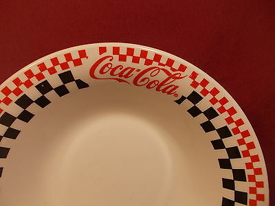 """Gibson Dinnerware Coca Cola Diner Pattern  Soup Bowl 8"""" 2"""