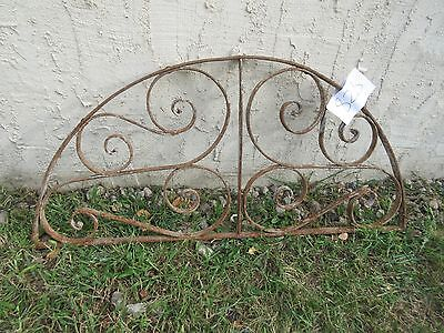 Antique Victorian Iron Gate Window Garden Fence Architectural Salvage #828 2