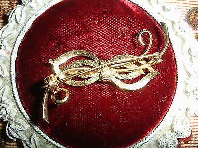 Vintage Brushed gold plated BOW Brooch - Unknown 2