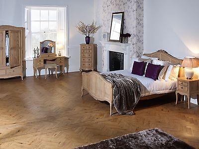 Avignon French Beige Upholstered Wood Bed 10
