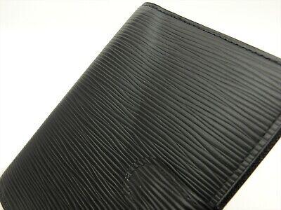 Louis Vuitton Authentic Epi Leather Black Agenda fonctionnel PM Diary cover Auth 4