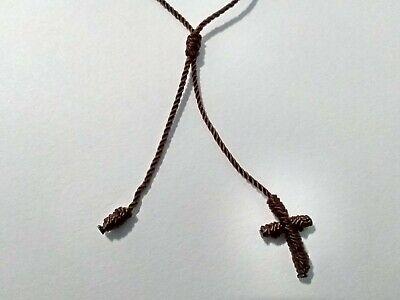 Single Decade Rosary Bracelet Handmade With Nylon Cord (Color Brown) Decenario 2