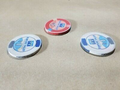 Lot of 3 Fortune Valley Casino Chips One $5, and Two $1 Central City Colorado 4