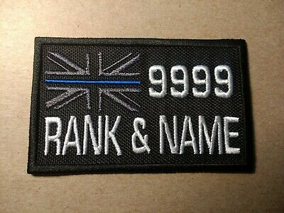 E0139  Embroidered  Choice Of Thin Blue Line Police Patch With Custom Options 2