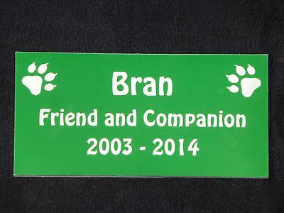 Personalised Pet Memorial Plaque with Cat Prints - Various Colours 3