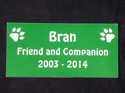 Personalised Pet Memorial Plaque with Cat Prints - Various Colours 3 • EUR 5,43