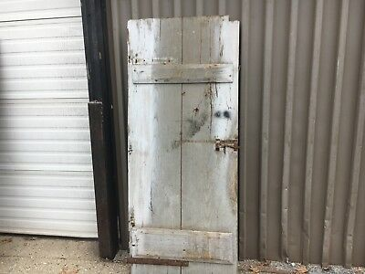 "Antique 19th century TWO board batten door CHESNUT - 72""  high x 30.25"" wide"