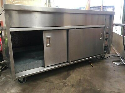 Newco Commercial Hot Cupboard Heated Carvery Trolley . 2
