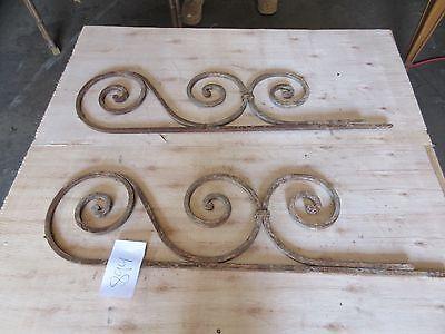 Antique Victorian Iron Gate Window Garden Fence Architectural Salvage #894 2