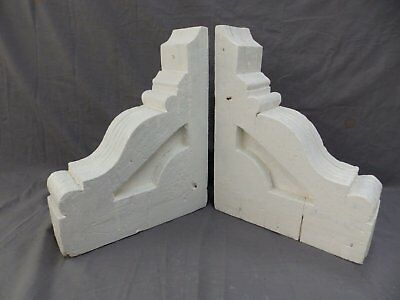 Pair Antique Wood Corbels Gingerbread Victorian Garden Shabby Vtg Chic 415-17P 9