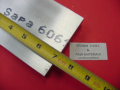 "2 Pieces 1/2"" X 4"" ALUMINUM 6061 FLAT BAR 7"" long Solid T6511 Plate Mill Stock 2"