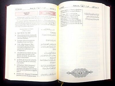HOLY QURAN  KORAN. FRENCH TRANSLATION du Coran en français. KING FAHAD MADINAH 6