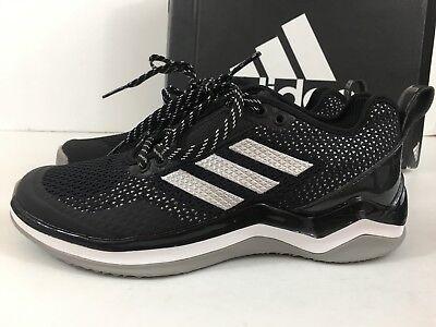 Nuovo Adidas Speed Ginnastica 3.0 Nero/Argento/BIANCO UOMO Scarpe da Baseball 5