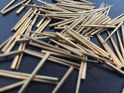 Antique Clock Hands Brass Tapered Pin Set of 100 3